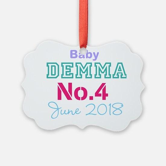 Baby No. 4 June 2018 Ornament