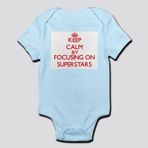 Keep Calm by focusing on Superstars Body Suit