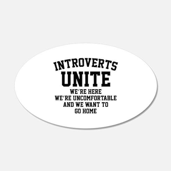 Introverts Unite 22x14 Oval Wall Peel
