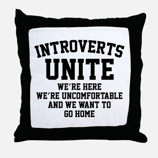 Introverts Unite Throw Pillow