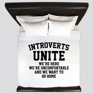 Introverts Unite King Duvet
