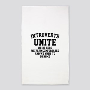 Introverts Unite 3'x5' Area Rug