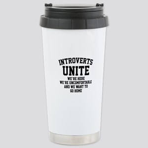 Introverts Unite Ceramic Travel Mug