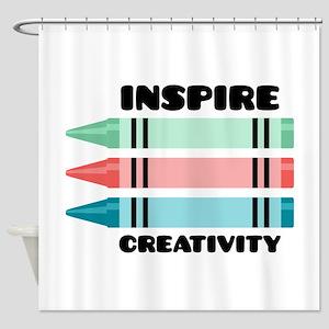 Inspire Creativity Shower Curtain