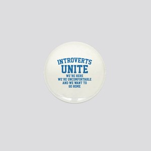 Introverts Unite Mini Button