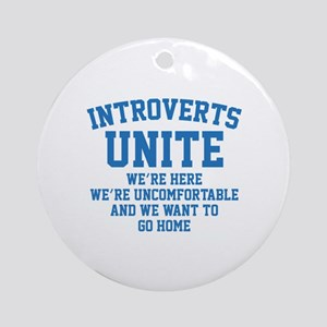 Introverts Unite Ornament (Round)