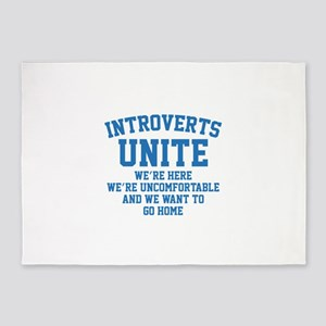 Introverts Unite 5'x7'Area Rug