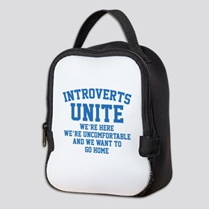 Introverts Unite Neoprene Lunch Bag