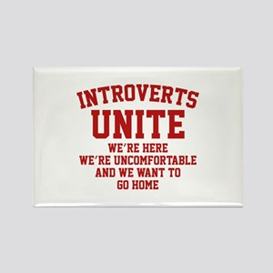 Introverts Unite Rectangle Magnet