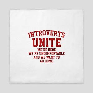 Introverts Unite Queen Duvet