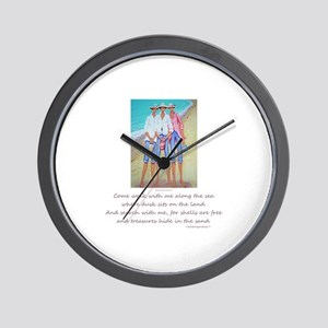 Come to the Sea Wall Clock