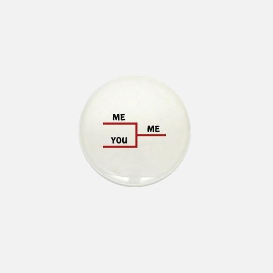 Me VS You Mini Button