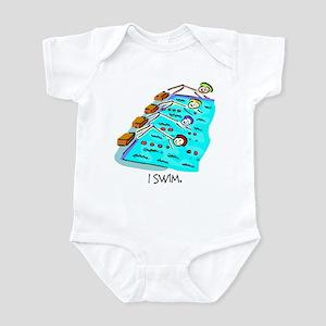 I Swim Stick Figure Infant Bodysuit
