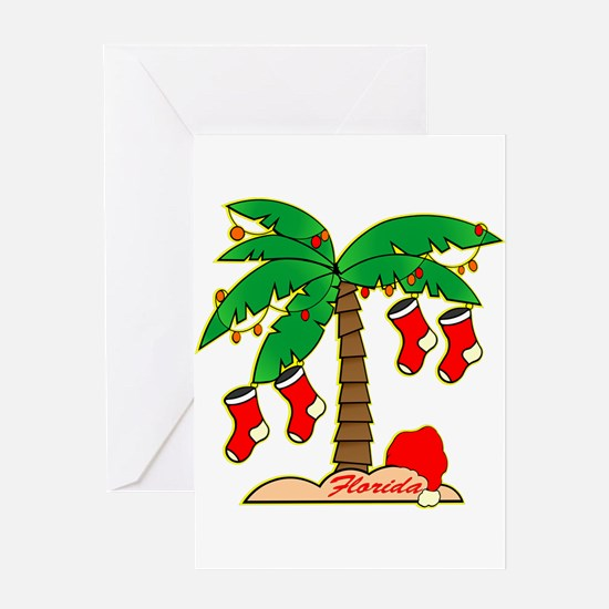 Florida Christmas Tree Greeting Cards