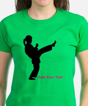 Martial Arts Personalized Women's Dark T-Shirt