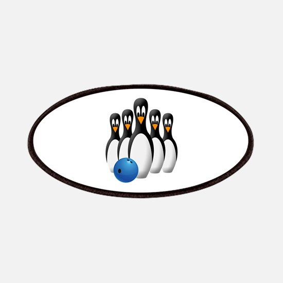 Penguin Bowling Pins Patch