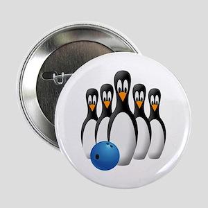 "Penguin Bowling Pins 2.25"" Button"