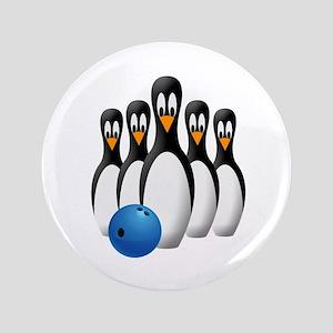 "Penguin Bowling Pins 3.5"" Button"