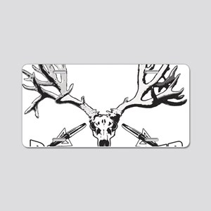 Bowhunter buck 14 Aluminum License Plate