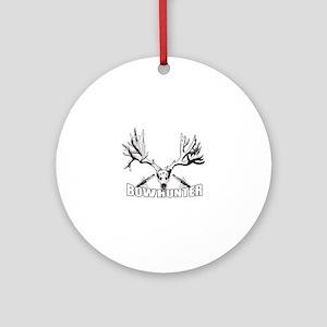 Bowhunter buck 14 Ornament (Round)
