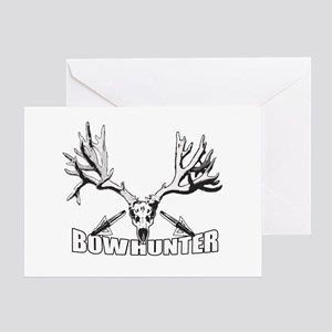 Bowhunter buck 14 Greeting Card