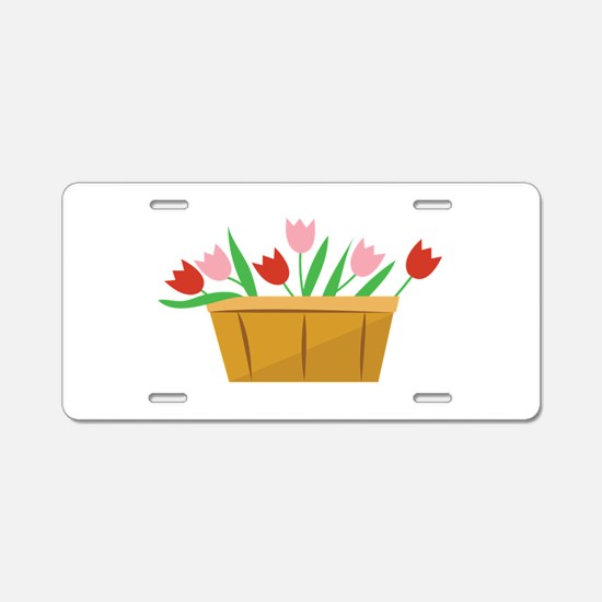 Tulips Aluminum License Plate