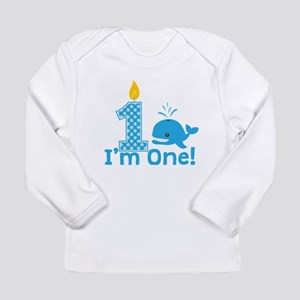 First Birthday Whale Long Sleeve T-Shirt
