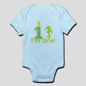 First Birthday Seahorse Body Suit