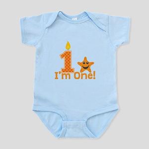 First Birthday Starfish Body Suit