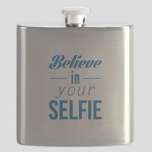 Believe In Your Selfie Flask