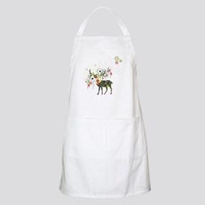 Abstract Decorated Christmas Elk Apron