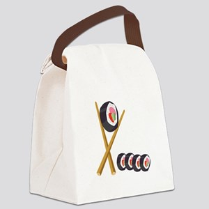 Sushi Rolls Canvas Lunch Bag