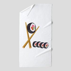 Sushi Rolls Beach Towel