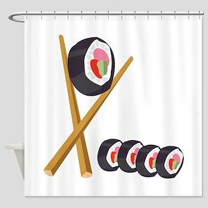 Sushi Rolls Shower Curtain