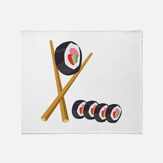 Sushi Rolls Throw Blanket