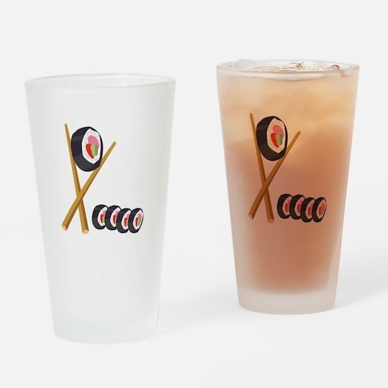 Sushi Rolls Drinking Glass
