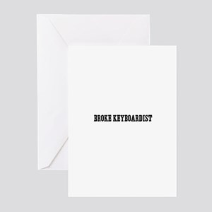 broke keyboardist Greeting Cards (Pk of 10)