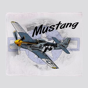 P51 Mustang Throw Blanket
