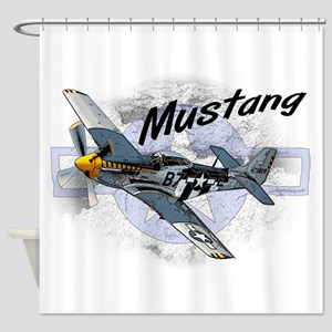 P51 Mustang Shower Curtain