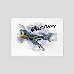 P51 Mustang 5'x7'Area Rug