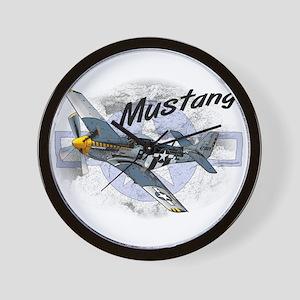 P51 Mustang Wall Clock