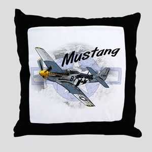 P51 Mustang Throw Pillow
