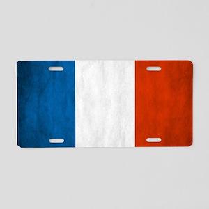 Vintage French Flag Aluminum License Plate