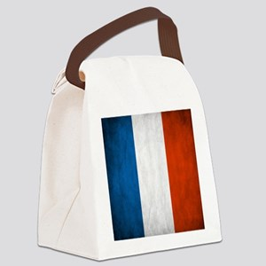 Vintage French Flag Canvas Lunch Bag