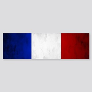 Grunge French Flag Bumper Sticker