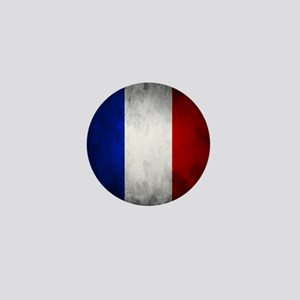Grunge French Flag Mini Button