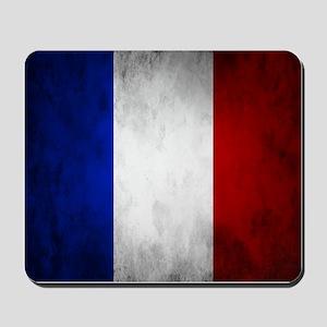 Grunge French Flag Mousepad
