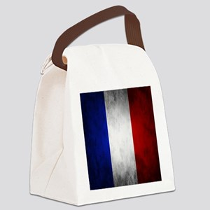 Grunge French Flag Canvas Lunch Bag