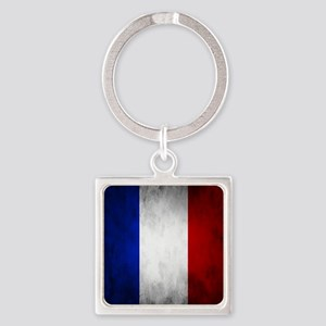 Grunge French Flag Keychains