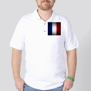 Grunge French Flag Golf Shirt